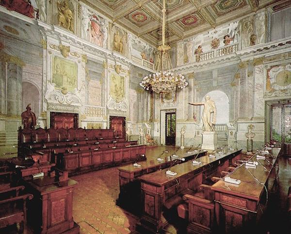 Sala di Pompeo presso il Consiglio di Stato